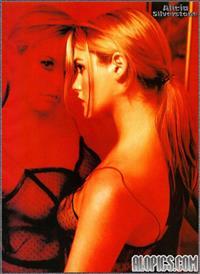 Alicia Silverstone in lingerie