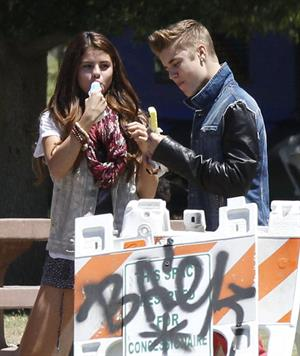 Selena Gomez enjoying a popsicle in Van Nuys on June 30, 2012