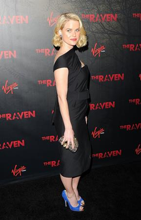 Alice Eve the Raven Los Angeles premiere on April 23, 2012