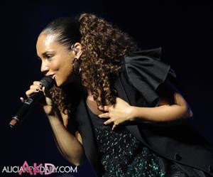 Alicia Keys Essence Music Festival on July 3, 2010