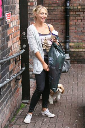 Ali Bastian outside Empire Theatre in Liverpool on July 2, 2012
