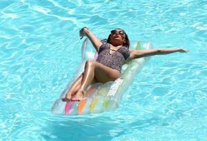 Amy Childs in Portugal on August 8, 2011