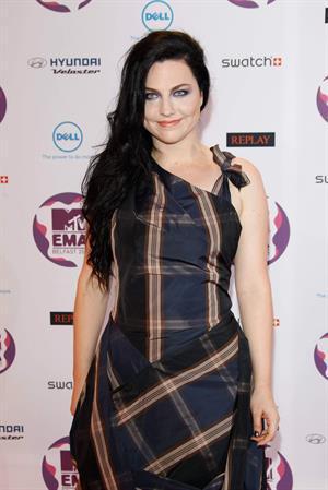 Amy Lee attends the 2011 MTV European Music Awards in Belfast Ireland on November 6, 2011