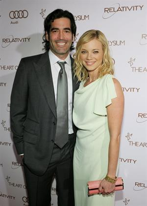 Amy Smart attends the Art of Elysium Heaven Gala at Union Station on January 14, 2012