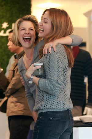 Amy Smart, Ali Larter and Jessica Alba at Splendid Store opening with Crafting Community and Baby2baby on December 4, 2011