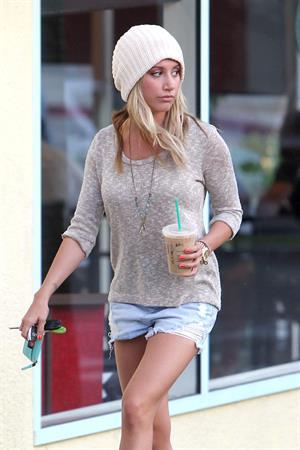 Ashley Tisdale leaving Barneys New York in Los Angeles 11/26/12