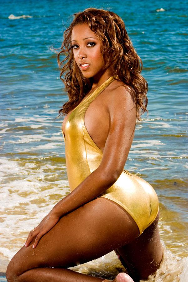 Holly Marie in a bikini