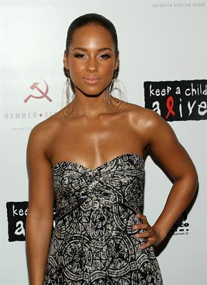 Alicia Keys attends the We Are Together premiere in New York on June 12, 2008
