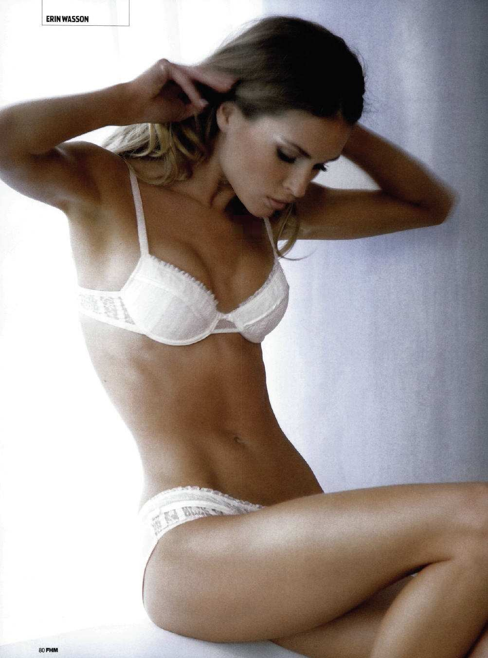 Erin Wasson in lingerie