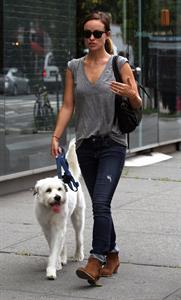 Olivia Wilde walking her dog in New York City - July 22, 2013
