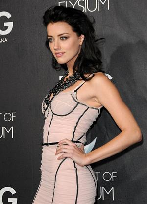 Amber Heard D&G flagship opening in Beverly Hills
