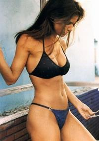 Charisma Carpenter in a bikini