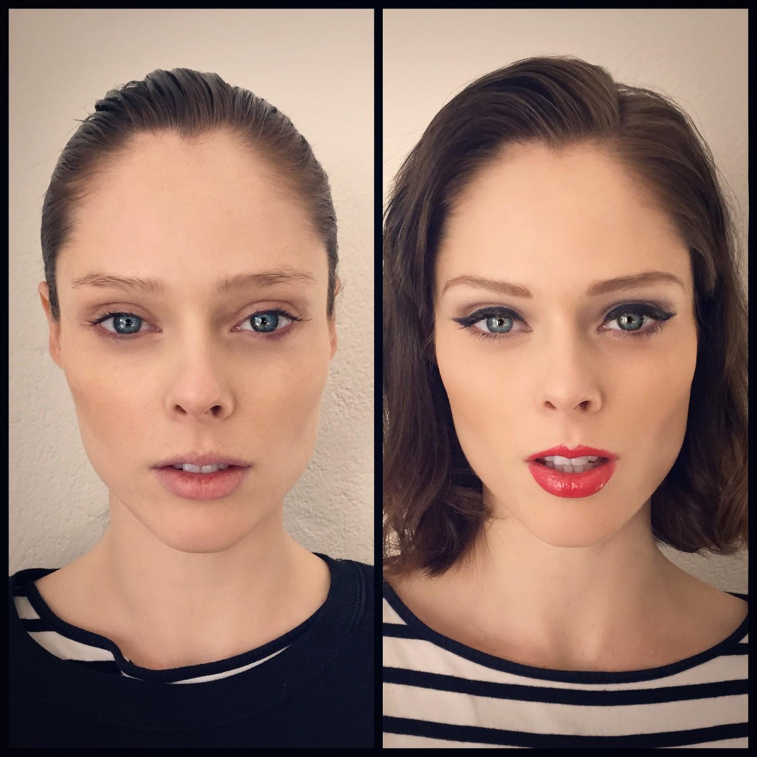 Красивые модели с макияжем и без