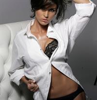 Allison Baver in lingerie