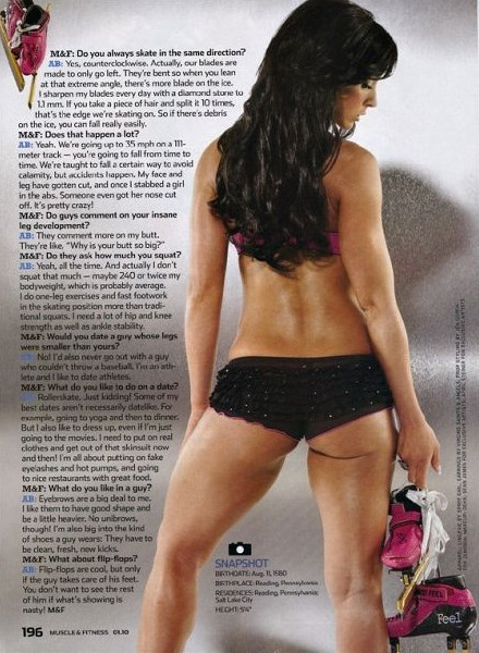 Allison Baver in lingerie - ass