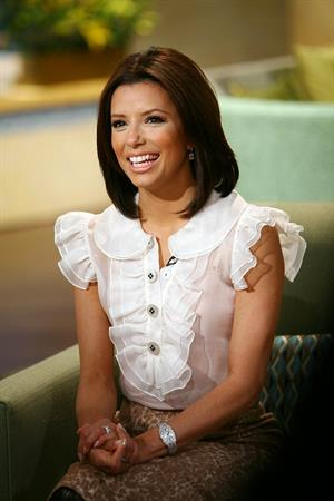 Eva Longoria promoting her film Over Her Dead Body
