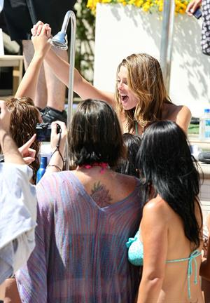 Ashley Greene hosts a pool party at the Wet Republic on August 7, 2010 in Las Vegas, Nevada