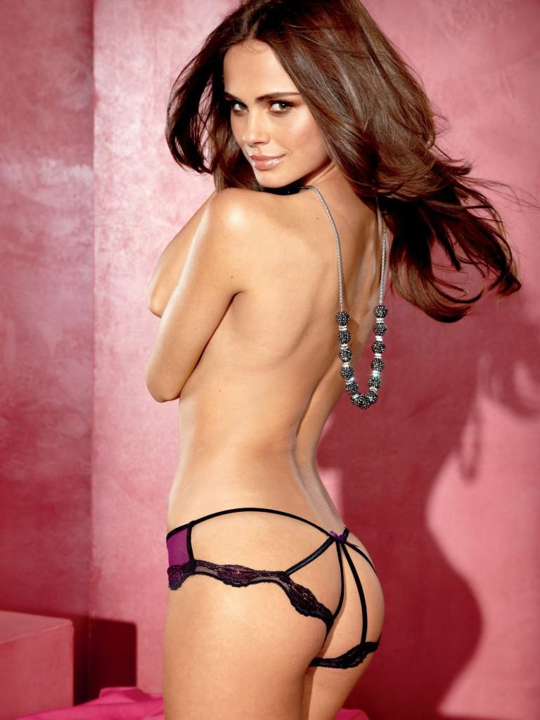 Xenia Deli in lingerie - ass