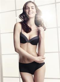 Hilary Rhoda in lingerie