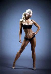 Anna Virmajoki in a bikini