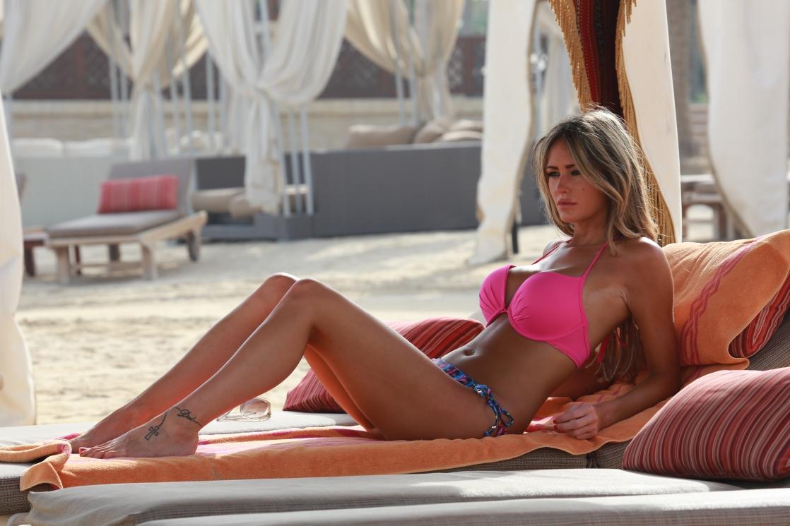Georgina Dorsett in a bikini