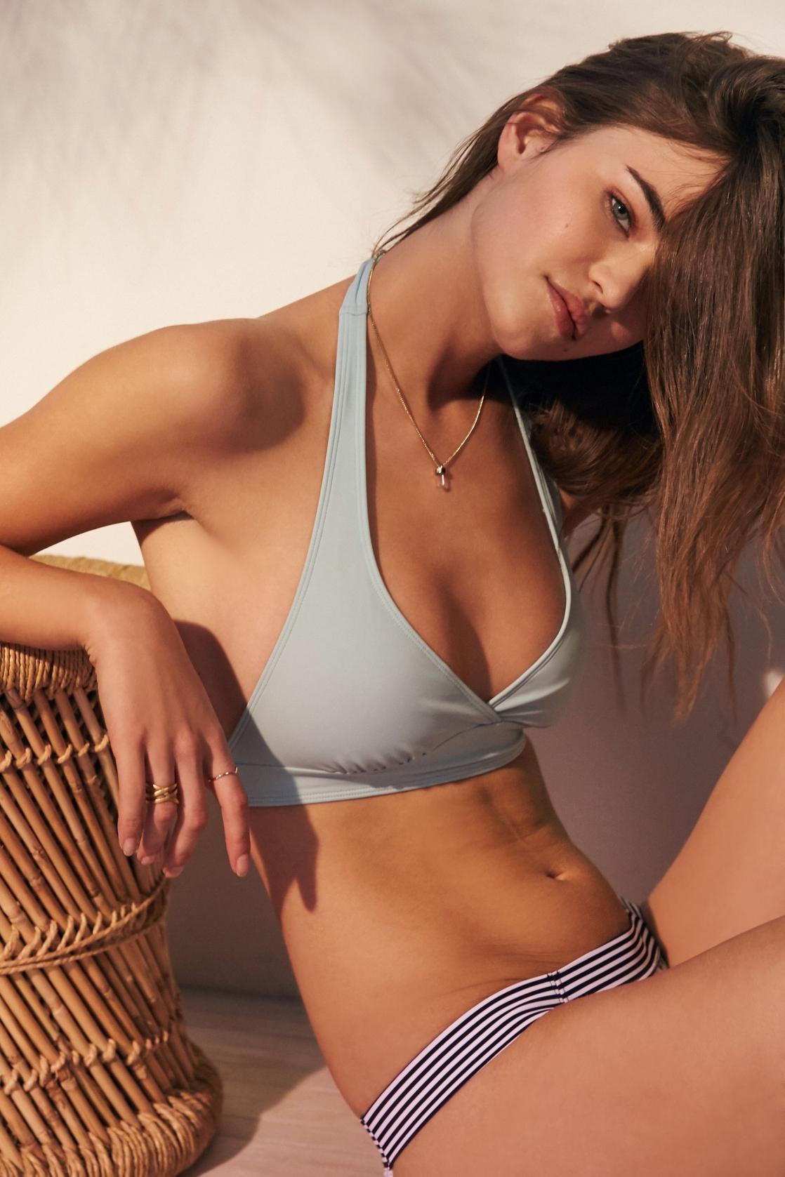 Robin Holzken in a bikini