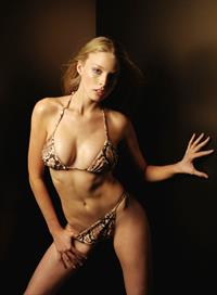 Rachel Nichols in a bikini