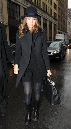 Jessica Alba in New York on January 17, 2012