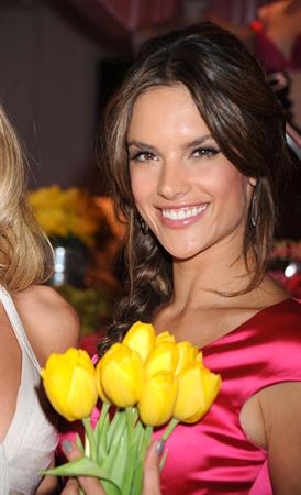 Alessandra Ambrosio Victoria's Secret Heavenly Flowers Fragrance launch April 24, 2010