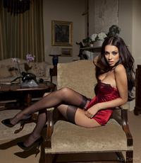 Georgia Salpa in lingerie