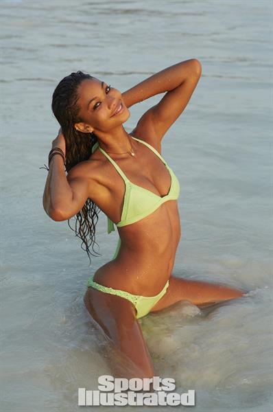 Chanel Iman in a bikini