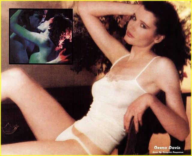 Geena Davis in lingerie - breasts