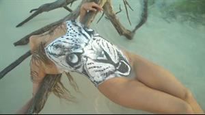 From the video of Ronda Rousey, Sports Illustrated Body Paint