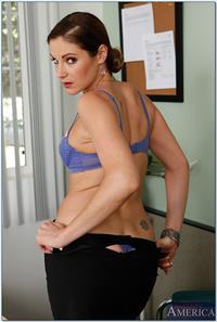 Samantha Ryan in lingerie - ass