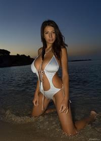 Jana Defi in a bikini
