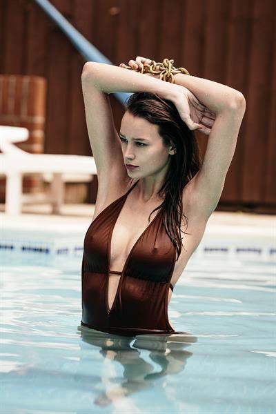 Abi Penhale in a bikini