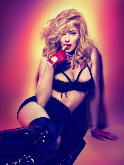 Madonna in lingerie