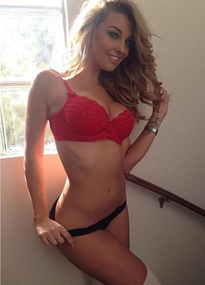 Emily Sears in lingerie