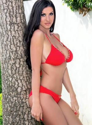 Alice Goodwin red and blue bikinis
