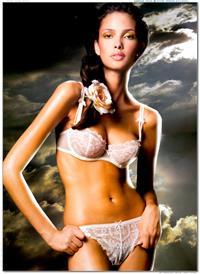 Sabrina Jales in lingerie