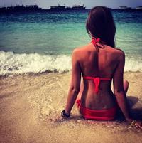 Polina Litvinova in a bikini