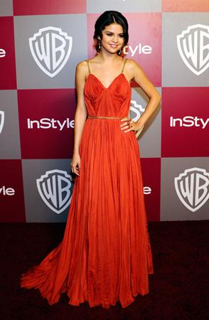 Selena Gomez InStyle Warner Brothers Golden Globes party at the Beverly Hilton hotel on January 16, 2011