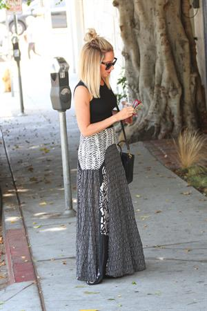 Ashley Tisdale heads to a hair salon in West Hollywood June 12, 2014