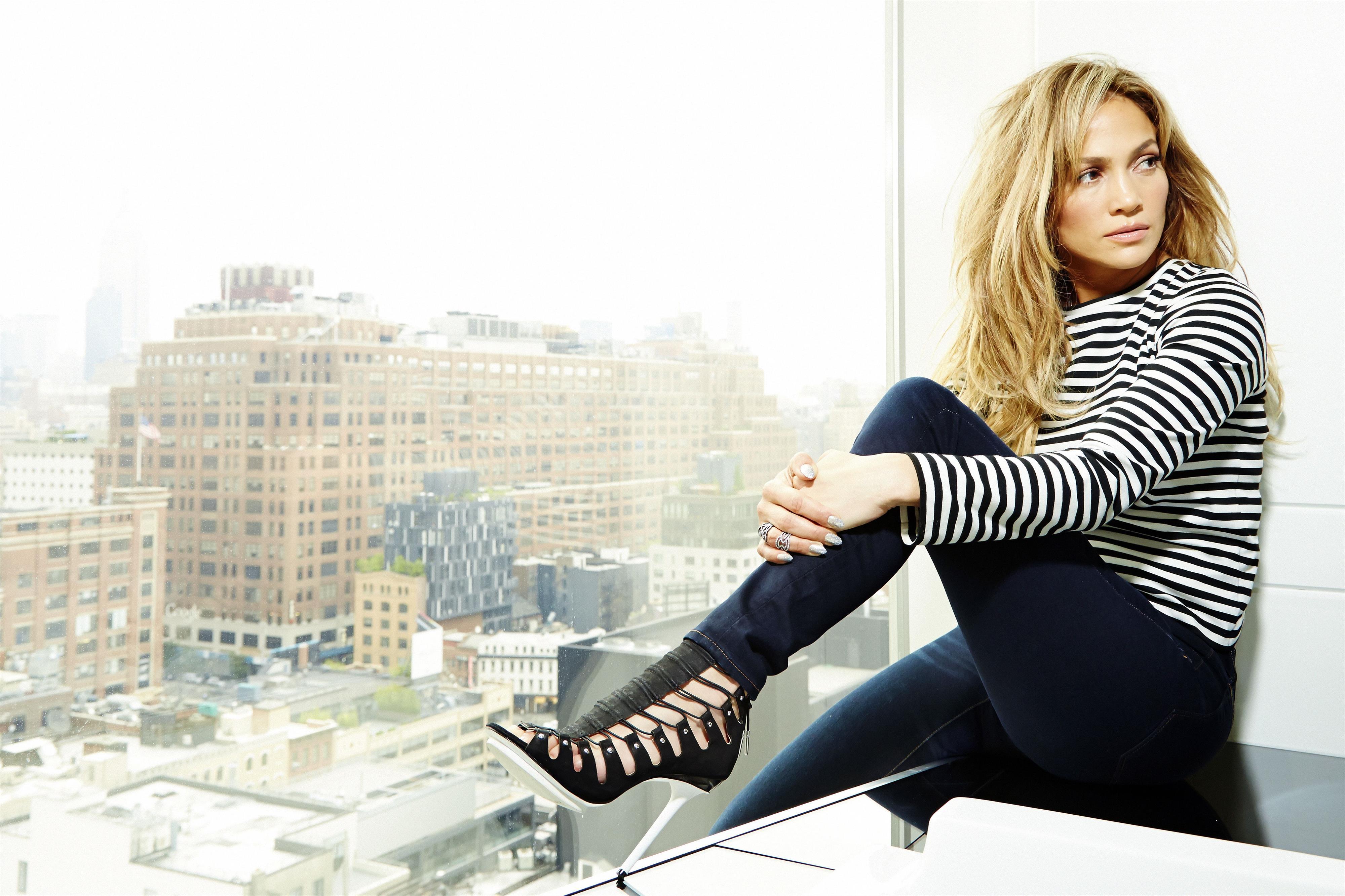 Jennifer Lopez portrait session for AKA at the Standard High Line Hotel, NYC June 10, 2014