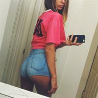 Lily Ermak taking a selfie and - ass