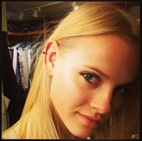 Ginta Lapina taking a selfie
