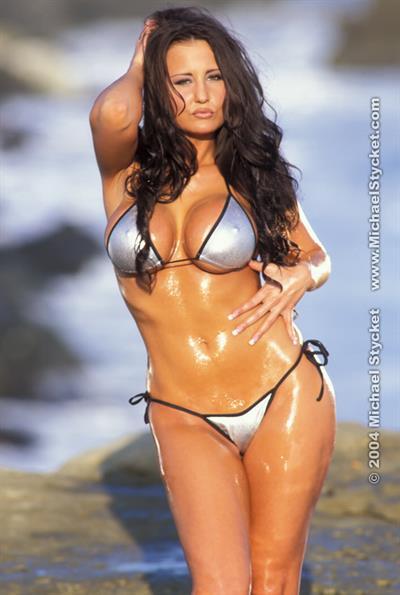 Adrian Morgan in a bikini