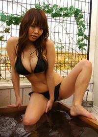 Hitomi Tanaka in a bikini