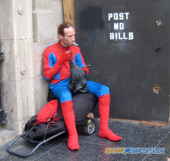 Spiderman is a smoker?