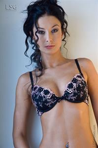 Hana Black in lingerie